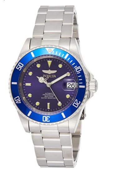 Invicta Men's Pro Diver 40mm Stainless Steel Automatic Watch with Coin Edge Bezel, Silver/Blue (Model: 9094)